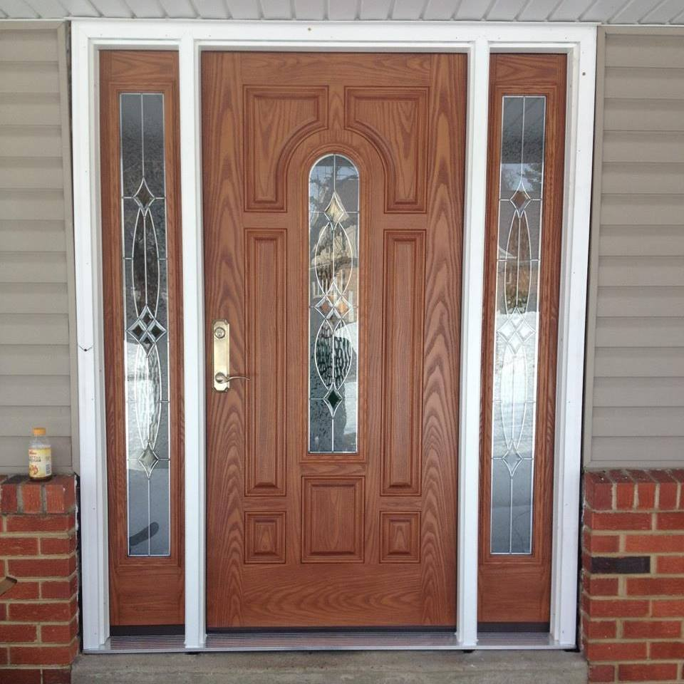 new front door installation by Ferris Home Improvements Delaware